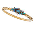 Estate Jewelry:Bracelets, Antique Opal, Gold Bracelet. ...