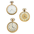 Timepieces:Pocket (post 1900), Three Pocket Watches. ... (Total: 3 Items)