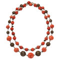 Estate Jewelry:Necklaces, Coral, Base Metal Necklace. ...
