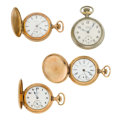 Timepieces:Pocket (post 1900), Four Lady's Pocket Watches. ... (Total: 4 Items)