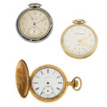 Timepieces:Pocket (post 1900), Elgin & Two Waltham's Pocket Watches For Parts Or Repair. ...(Total: 3 Items)