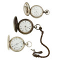 Timepieces:Pocket (pre 1900) , Waltham & Two Elgin's Pocket Watches. ... (Total: 3 Items)