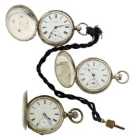 Three Key Wind 18 Size Hunter Cases Pocket Watches