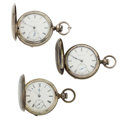 Timepieces:Pocket (pre 1900) , Three 18 Size Hunter's Case Key Wind Pocket Watches. . ... (Total: 3 Items)