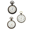Timepieces:Pocket (pre 1900) , Three Swiss Sterling Pocket Watches. ... (Total: 3 Items)