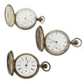 Timepieces:Pocket (post 1900), Three Silver Pocket Watches For Parts Or Repair. ... (Total: 3Items)
