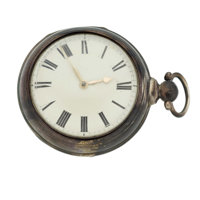 Swiss Sterling Silver Pair Case Lever Fusee Pocket Watch