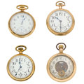 Timepieces:Pocket (post 1900), Three Elgin's & One Illinois Pocket Watches. ... (Total: 4Items)