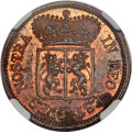 Netherlands East Indies, Netherlands East Indies: Gelderland. United East India Companybronze Proof Pattern Duit 1791 PR61 Red and Brown NGC,...