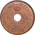 Hong Kong , Hong Kong : British Colony - Victoria copper Proof Pattern Cash 1863 PR65 Red and Brown PCGS,...