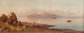 19th Century European:Landscape, Henryk Cieszkowski (Polish, 1835-1895). A view of Capri. Oilon canvas affixed to board. 19-1/4 x 47 inches (48.9 x 119....
