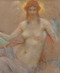 Fine Art - Work on Paper:Drawing, Lucien Lévy-Dhurmer (French, 1865-1953). Venus. Pastel onboard. 26 x 21-1/2 inches (66.0 x 54.6 cm) (sheet). Signed low...