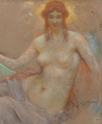 Lucien Lévy-Dhurmer (French, 1865-1953) Venus Pastel on board 26 x 21-1/2 inches (66.0 x 54.6 cm)