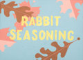 Animation Art:Concept Art, Maurice Noble Rabbit Seasoning Title Color Concept Art(Warner Brothers, 1952)....