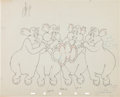 Animation Art:Color Model, Dumbo Pink Elephants on Parade Color Model Animation Drawing Group of 3 (Walt Disney, 1941).... (Total: 3 Original Art)