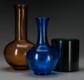 Asian:Chinese, Three Beijing Glass Vases, 20th century. 13-1/8 inches high (33.3cm) (tallest). ... (Total: 3 Items)