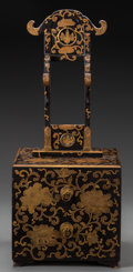 Asian:Japanese, A Japanese Lacquered Dressing Cabinet Box, Meiji Period. 25-1/2inches high (64.8 cm). ...