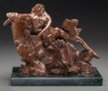Fine Art - Sculpture, American:Contemporary (1950 to present), Reuben Nakian (American, 1897-1986). Nymph and Goat, 1979.Bronze with brown patina. 10 x 15 x 7 inches (25.4 x 38.1 x 1...