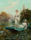 Fine Art - Painting, European:Other , Henry John Yeend King (British, 1855-1924). The lady of thelake. Oil on canvas. 36-1/4 x 28-1/4 inches (92.1 x 71.8 cm)...