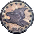 1855 P1C Flying Eagle Cent, Judd-168 Original, Pollock-193, R.4, PR64 Brown NGC. CAC....(PCGS# 11720)