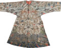 Rugs & Textiles:Textiles, A Korean Silk Embroidered Dragon Robe, late 19th century. 54-1/4 hx 68 w inches (137.8 x 172.7 cm). ...
