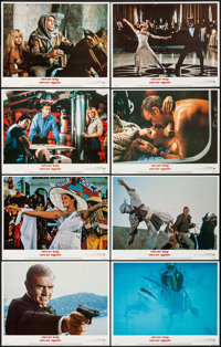 """Never Say Never Again (Warner Brothers, 1983). Lobby Card Set of 8 (11"""" X 14""""). James Bond. ... (Total: 8 Item..."""