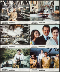 "Moonraker (United Artists, 1979). French Lobby Card Set of 12 (8.5"" X 10.75""). James Bond. ... (Total: 12 Item..."
