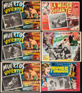 """Movie Posters:Science Fiction, Invasion of the Body Snatchers & Others Lot (Allied Artists, 1956). Mexican Lobby Cards (9) (Approx. 12"""" X 15.75"""" & 12.75"""" X... (Total: 9 Items)"""