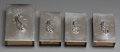 Silver Smalls:Match Safes, Four Georg Jensen Silver Matchbox Covers, Copenhagen, Denmark, post1945. Marks: GEORG JENSEN, DENMARK, STERLING, 132A; 13...(Total: 4 Items)