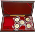 "China, China: People's Republic 10-Piece gold & silver Proof ""Inventions and Discoveries"" 5 & 100 Yuan Sets 1992,... (Total: 10 coins)"