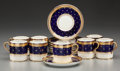 Ceramics & Porcelain, British:Contemporary   (1950 to present)  , A Sixteen Piece Aynsley Porcelain Demitasse Set, Longton,Staffordshire, England, 20th century. Marks: (crown),AYNSLEY ... (Total: 16 Items)