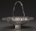 Silver Holloware, British, A Martin, Hall & Co. Silver-Plated Reticulated Basket,Sheffield, England, circa 1880. Marks: MH & Co., GPGS,1557B. 4-3...