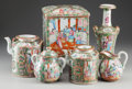 Asian:Chinese, A Six-Piece Chinese Rose Medallion Porcelain Tea and CoffeeService, late 19th century. 7-7/8 inches high (20.0 cm) (vase). ...(Total: 6 Items)