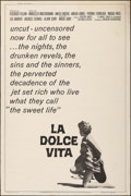 """Movie Posters:Foreign, La Dolce Vita (American International, R-1966). Poster (40"""" X 60""""). Foreign.. ..."""