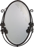 Decorative Arts, Continental:Other , A Continental Art Deco Patinated Metal Mirror in the Manner ofEdgar Brandt, circa 1920. 30 inches high x 22 inches wide (76...