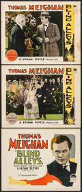 "Movie Posters:Drama, Blind Alleys (Paramount, 1927). Title Lobby Card & Lobby Cards (2) (11"" X 14""). Drama.. ... (Total: 3 Items)"