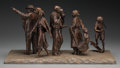 Fine Art - Sculpture, American:Contemporary (1950 to present), Glenna Goodacre (American, b. 1939). Sidewalk Society, 1990.Bronze with brown patina. 12-1/2 inches (31.8 cm) high on a...