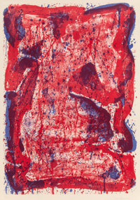 Sam Francis (American, 1923-1994) Affiche Moderna Museet Stockholm, 1960 Lithograph in colors on Riv
