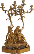 Decorative Arts, French, A Louis XV-Style Gilt Bronze Eight-Light Figural Candelabrum, 19thcentury. 31-1/2 h x 18 w x 9 d inches (80.0 x 45.7 x 22.9...(Total: 2 Items)