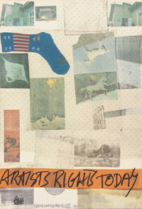 Robert Rauschenberg (American, 1925-2008) Artist's Rights Today, 1981 Lithograph in colors with embo