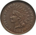 Proof Indian Cents: , 1882 1C PR66 Brown NGC. NGC Census: (45/6). PCGS Population (41/21). Mintage: 3,100. Numismedia Wsl. Price for problem free...