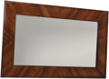 Decorative Arts, Continental:Other , A Mahogany and Pine Framed Mirror, 20th century. 57 inches high x36-1/4 inches wide (144.8 x 92.1 cm). ...