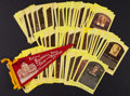 Baseball Collectibles:Others, Baseball Hall of Fame Hall of Fame Plaque Postcards Lot of 190+ andMini Pennant. ...