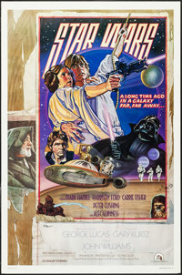 """Star Wars (20th Century Fox, 1978). Artist Autographed One Sheet (27"""" X 41"""") Style D. Science Fiction"""