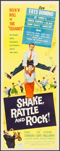 "Movie Posters:Rock and Roll, Shake, Rattle and Rock (American International, 1956). Insert (14""X 36""). Rock and Roll.. ..."