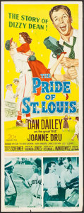 """Movie Posters:Sports, The Pride of St. Louis (20th Century Fox, 1952). Insert (14"""" X 36""""). Sports.. ..."""