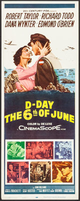 """D-Day The Sixth of June (20th Century Fox, 1956). Inserts (5) Identical (14"""" X 36""""). War. ... (Total: 5 Items)"""