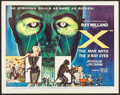 "Movie Posters:Science Fiction, X - The Man with the X-Ray Eyes (American International, 1963). Half Sheet (22"" X 28""). Science Fiction.. ..."