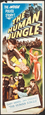 "The Human Jungle (Allied Artists, 1954). Insert (14"" X 36""). Crime"