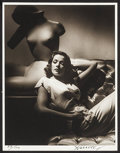 """Movie Posters:Miscellaneous, Gene Tierney by George Hurrell (1979-1980). Autographed Limited Edition Portrait Photo (11"""" X 14""""). Miscellaneous.. ..."""